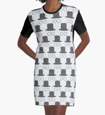 Hat and glasses seamless Graphic T-Shirt Dress