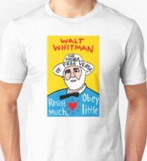 Walt Whitman pop folk art T-Shirt