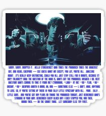 Doctor Who Pandorica Opens (Speech) Sticker