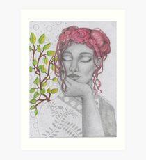 My Lady in Silver Art Print