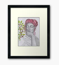 My Lady in Silver Framed Print
