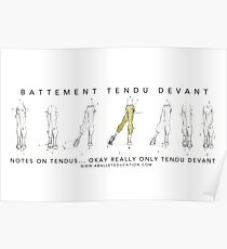 Notes on Tendu Poster