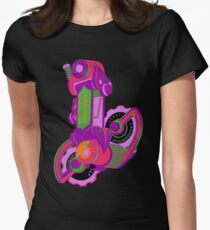 The World's Most Famous 70's Derailleur, One Cool Cat Women's Fitted T-Shirt