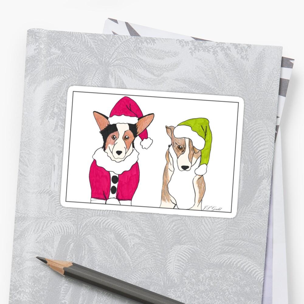 corgi christmas by j l gould - Corgi Christmas