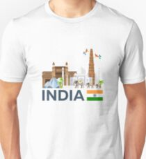 India, skyline. Taj mahal Unisex T-Shirt