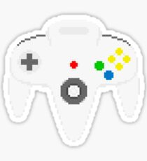 Nintendo 64 controller in pixelart Sticker