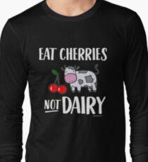 Eat Cherries Not Dairy for Vegans and Vegetarians T-Shirt