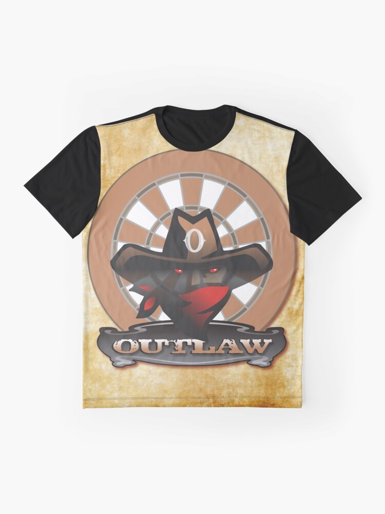 Alternate view of Outlaw Darts Shirt Graphic T-Shirt
