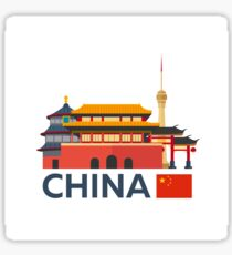 China, Beijing skyline Sticker
