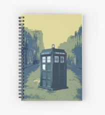 Tardis in the old town Spiral Notebook