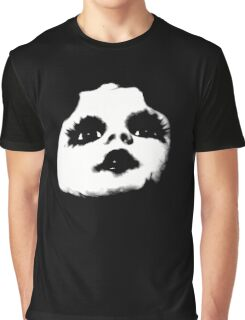 Cool Creepy Doll Face Graphic T-Shirt