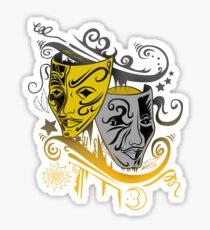 Zodiac - Gemini -  Black & Gold Sticker
