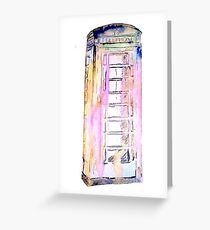 Is that a telephone box? Greeting Card