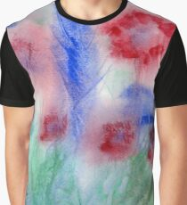 Red Flowers Abstract Original Watercolor Painting Art Print from Watercolor Painting Flowers Art Print Watercolor Wall Art Graphic T-Shirt