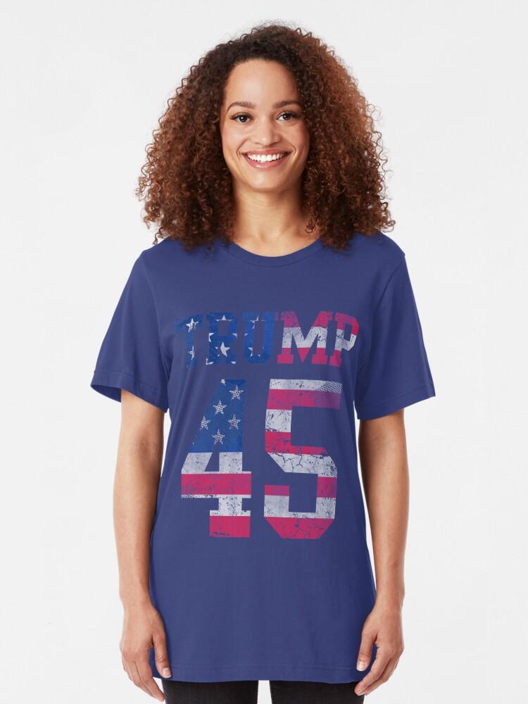 Donald Trump USA Flag Americana Girls/' Fitted Kids T-Shirt Patriotic