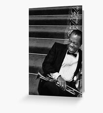 "Louis ""Satchmo"" Armstrong Greeting Card"