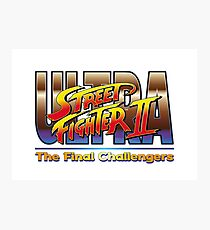 Ultra Street Fighter 2 The Final Challengers Photographic Print