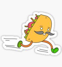 Taco run Sticker