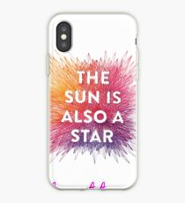 The sun is also a star iPhone Case