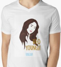 KARA Youngji Mens V-Neck T-Shirt