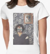 Mirrored on Wall Womens Fitted T-Shirt