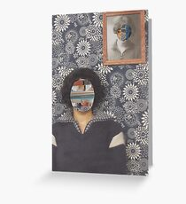 Mirrored on Wall Greeting Card