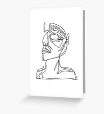 one line of judgement Greeting Card