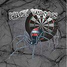 Black Widows Darts Shirt by mydartshirts