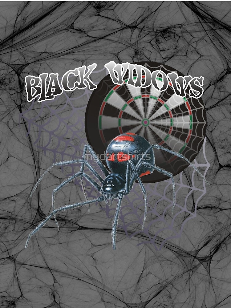 Black Widows Darts Shirt by mydartshirts