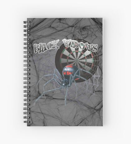Black Widows Darts Shirt Spiral Notebook