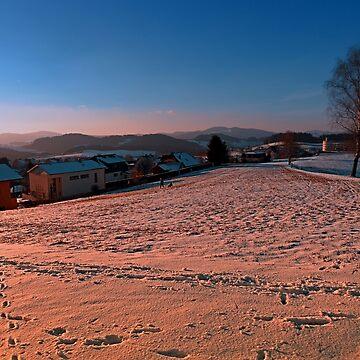 A winter wonderland sundown | landscape photography by patrickjobst