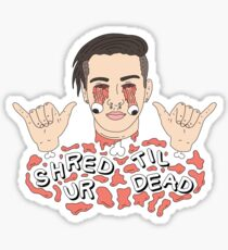 Shred Til Ur Dead | Getter | Black Sticker
