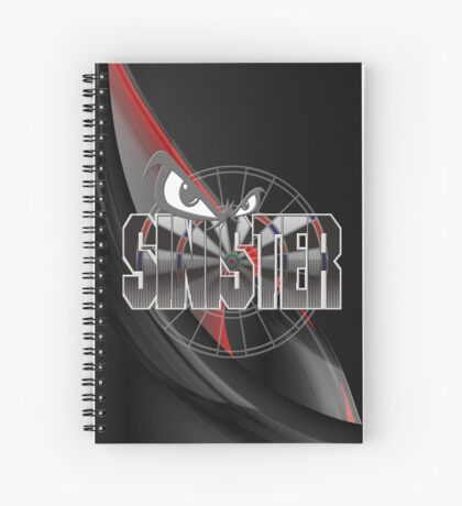Sinister Darts Shirt Spiral Notebook