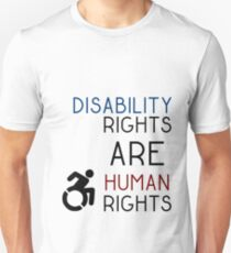 Disability Rights ARE Human Rights Unisex T-Shirt