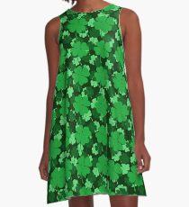 Shades of Green Shamrocks A-Line Dress