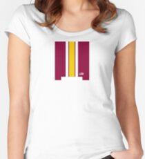 Washington Helmet Stripe Women's Fitted Scoop T-Shirt
