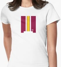 Washington Helmet Stripe Women's Fitted T-Shirt