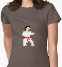 8-bit Martial Artist Women's Fitted T-Shirt