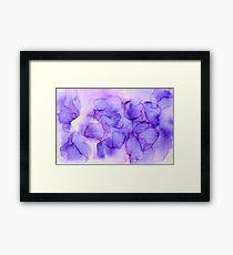 tranquil purple ink dreamy  Framed Print