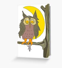 Owl vs. Mouse Greeting Card