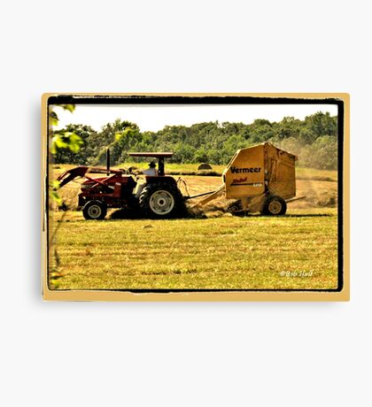 """Burnin' Daylight and makin' Hay""... prints and products Canvas Print"