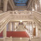Romania. Bucharest. The Palace of the Parliament. Interior. Stairs. by vadim19
