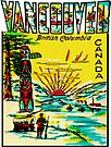 Vancouver British Columbia Vintage Travel Decal by hilda74