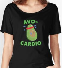 Avo-Cardio Funny Avocado Fitness Women's Relaxed Fit T-Shirt
