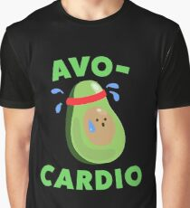 Avo-Cardio Funny Avocado Fitness Graphic T-Shirt