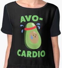 Avo-Cardio Funny Avocado Fitness Chiffon Top