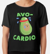 Avo-Cardio Lustige Avocado Fitness Chiffontop