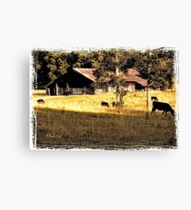 """""""Dinner at Betsy's Place""""... prints and products Canvas Print"""