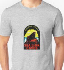 Oregon Coast Sea Lion Caves Vintage Travel Decal T-Shirt