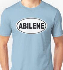 Abilene Texas Oval Design Unisex T-Shirt